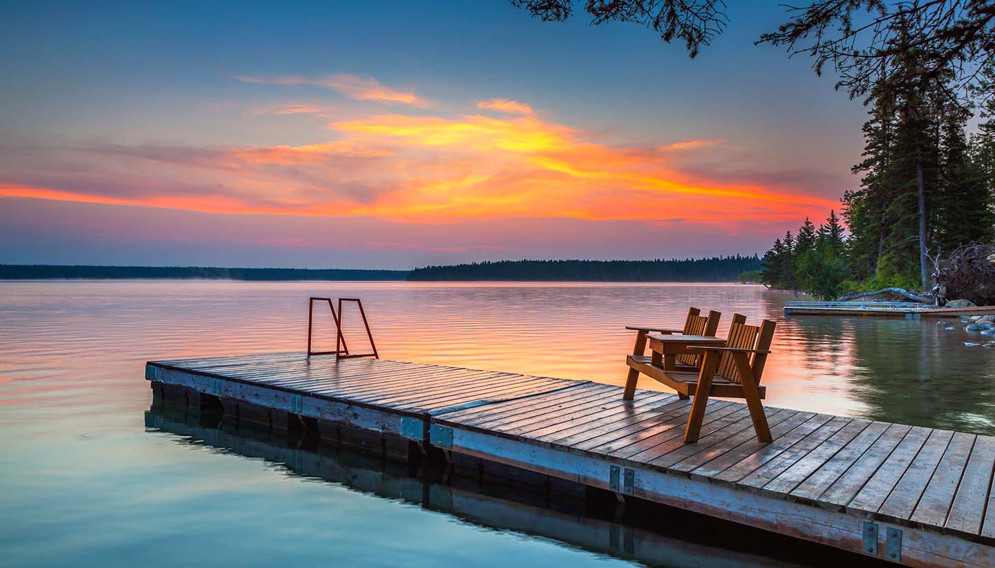 Country Guides - Sunrise at Clear Lake, Manitoba