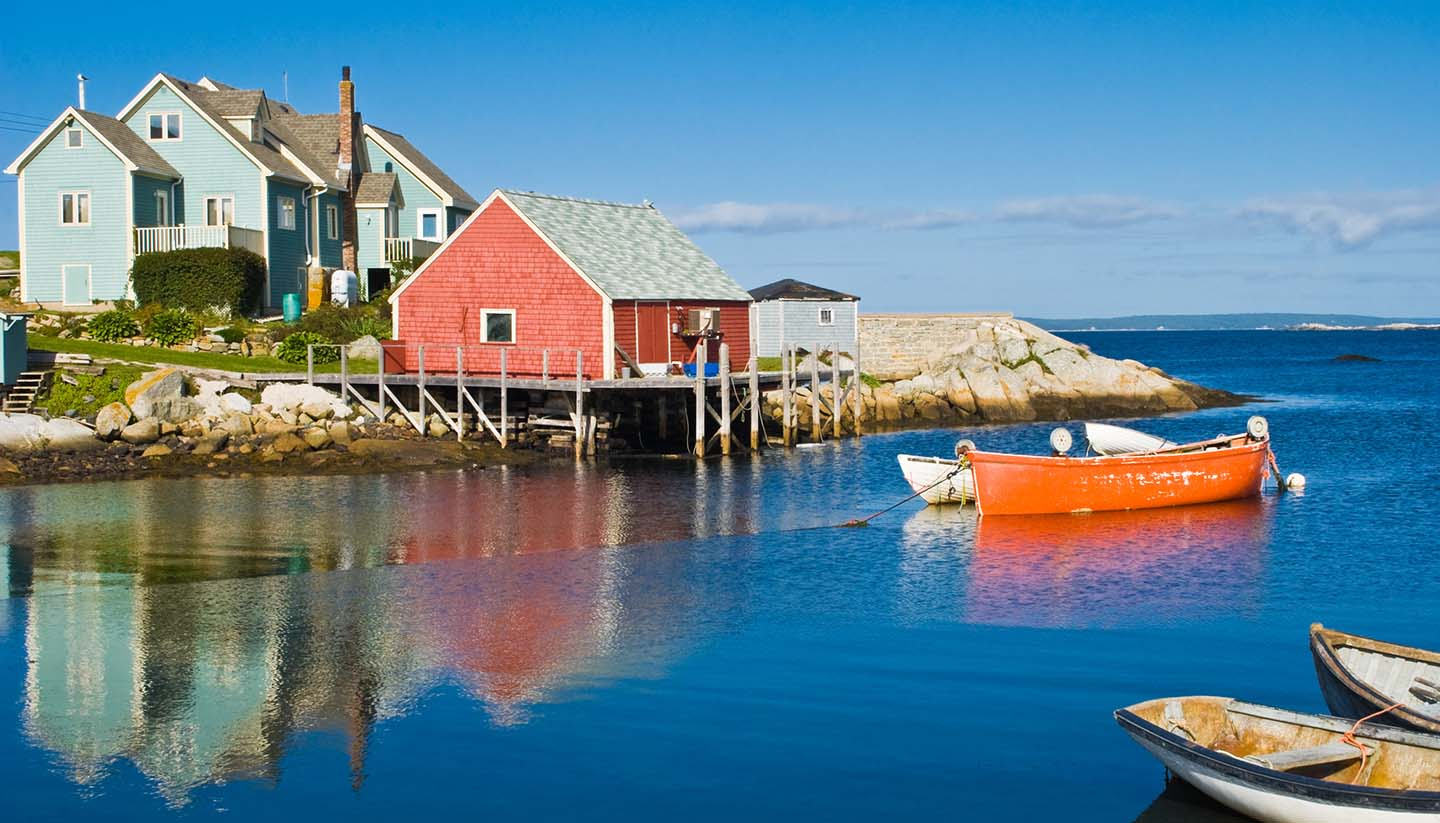 Nova Scotia - Fisherman's house & boats, Nova Scotia