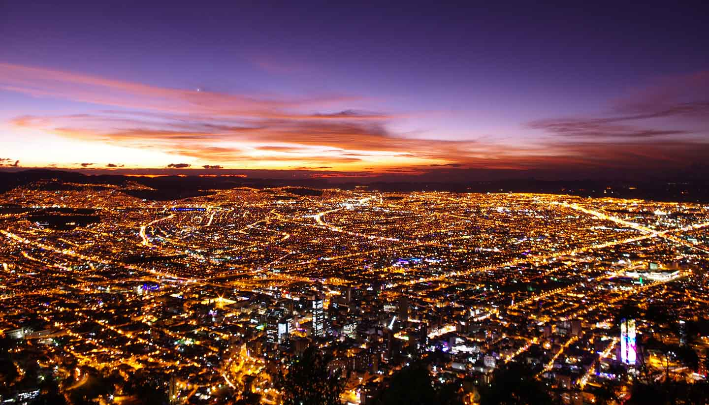 Colombia - Sunset at Bogota, Colombia