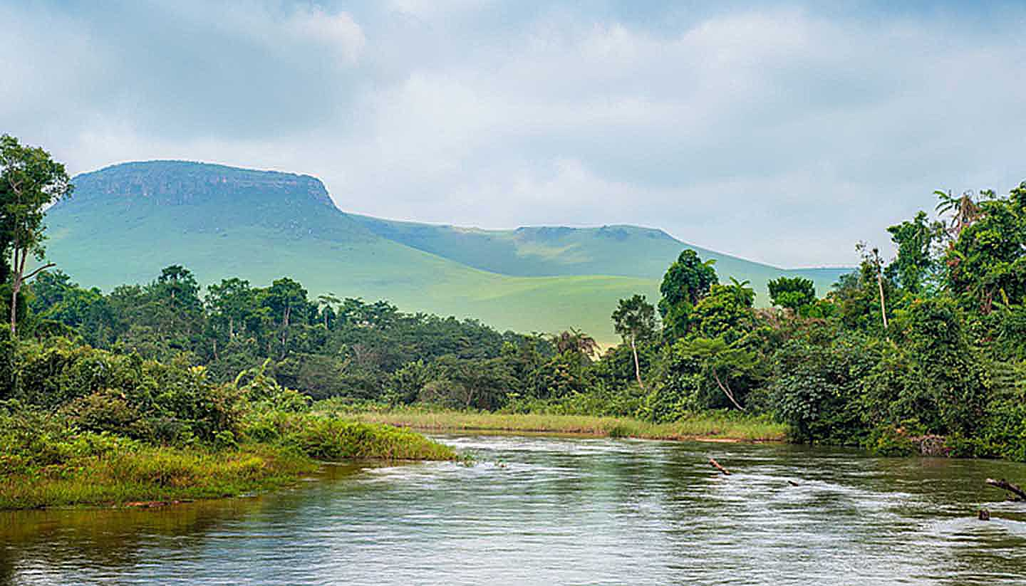 Democratic Republic of Congo - River in Jungle, Congo Democratic Rep