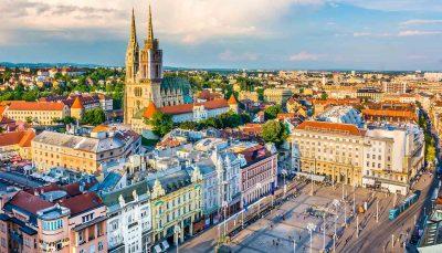 Zagreb Aerial View, Croatia