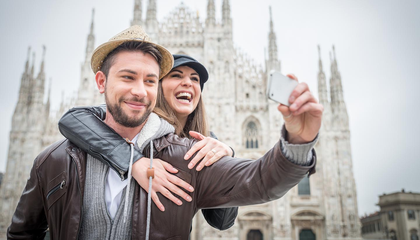 Italy - Tourists at Duomo Sathedral, Milan