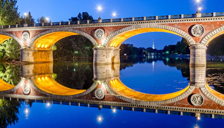 Turin - Ponte Isabella & River Po, Italy