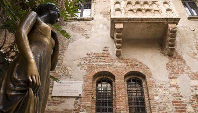 Juliet Capulet's balcony in Verona, Italy