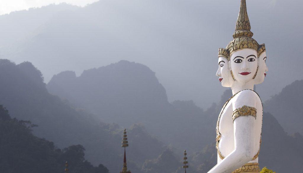Laos - Bhuddistic Temple sculpture, Laos
