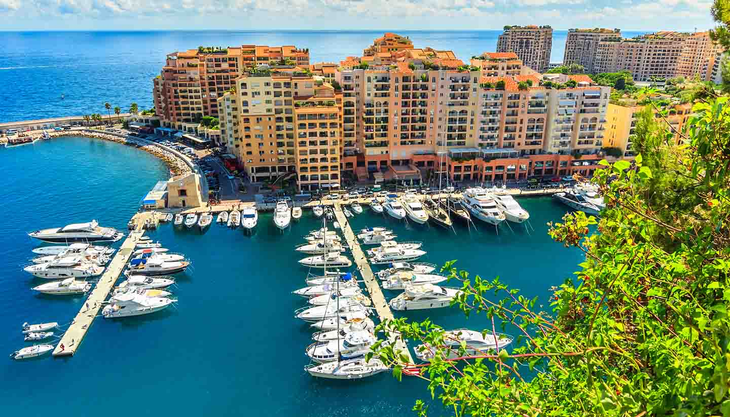 Monaco - Luxury Harbor in The Monte Carlo, Monaco