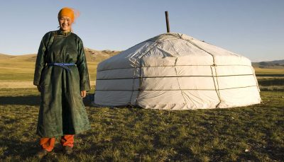 Mongolian lady and her Home, Mangolia