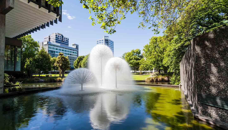Christchurch - Ferrier Fountain, Christchurch, New Zealand