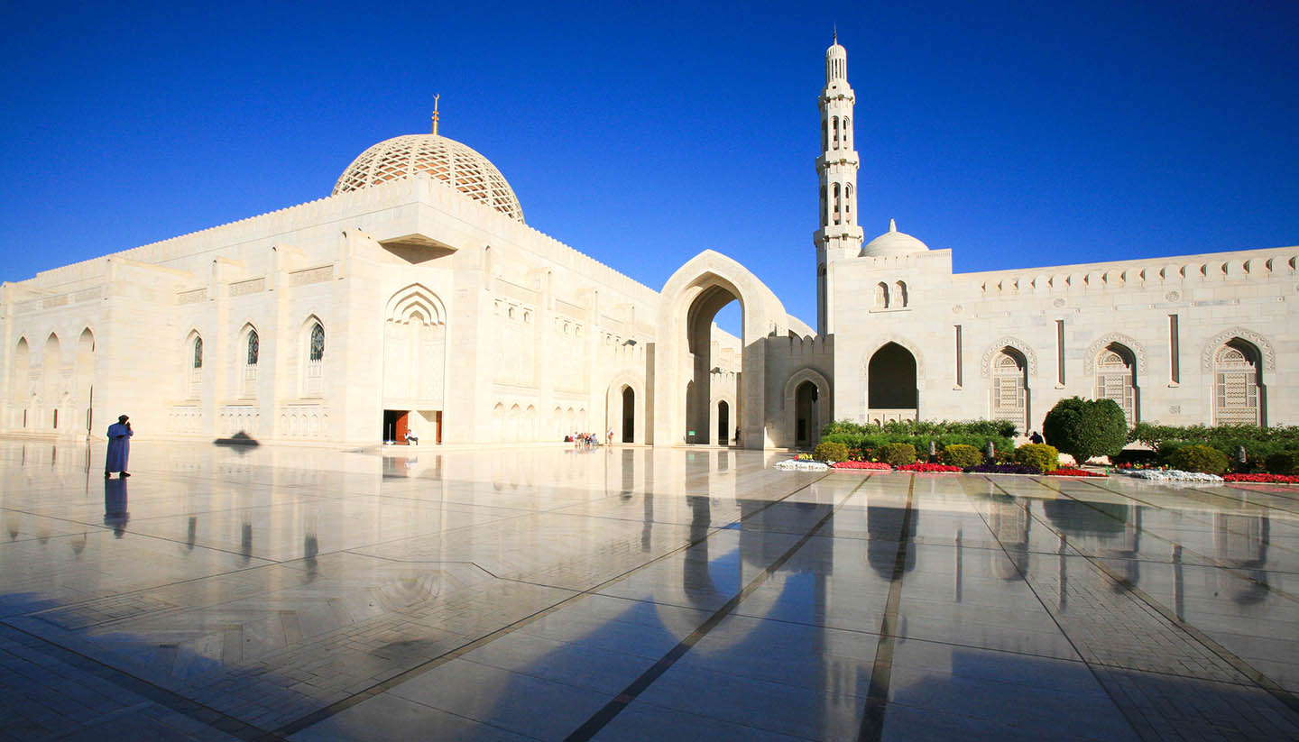 Muscat - Sultan Qaboos Grand Mosque in Muscat, Oman