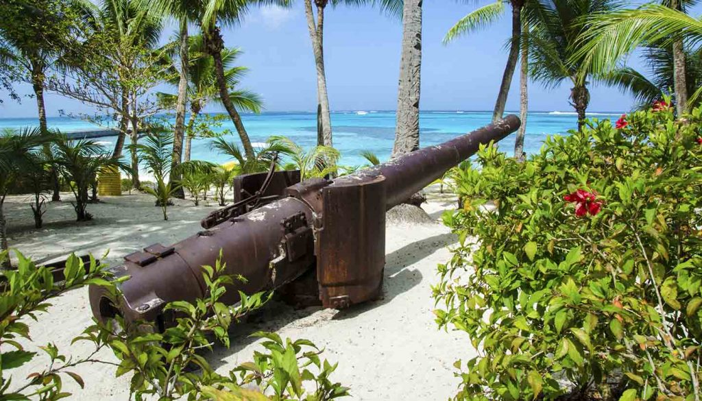 Northern Mariana Islands - Japanese World War ll canyon