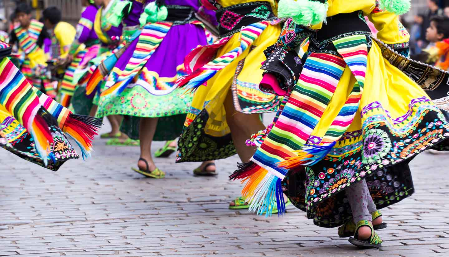 Cusco - Peruvian Dancers in Cusco, Peru
