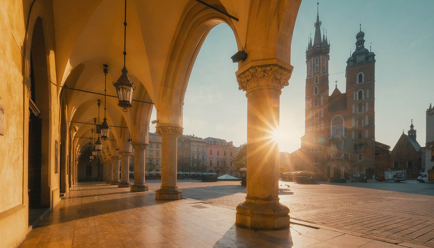 Cracow - Sunrise in Cracow. Poland