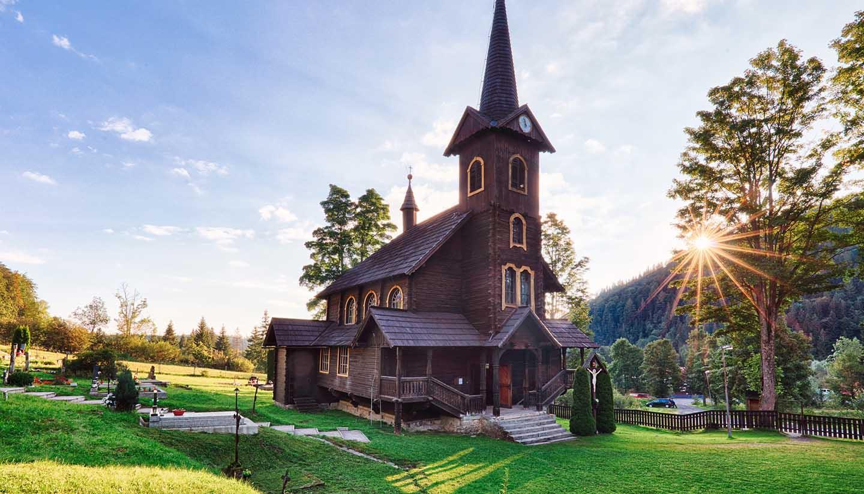 Slovakia - Wooden church at Tatranska, Slovakia