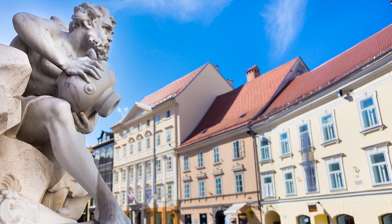 Ljubljana - Robba fountain in Ljubljana, Slovenia.