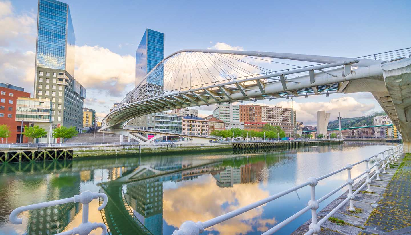 Spain - Pedro Arrupe Footbridge, Bilbao, Spain
