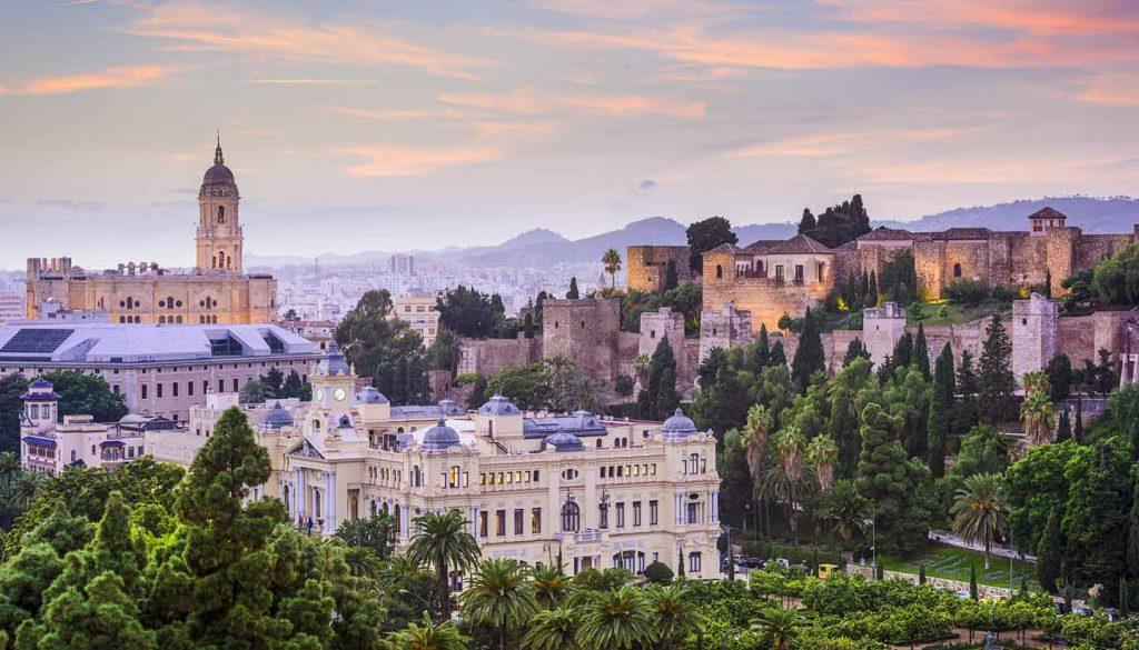Málaga - Cityscape Malaga, Spain