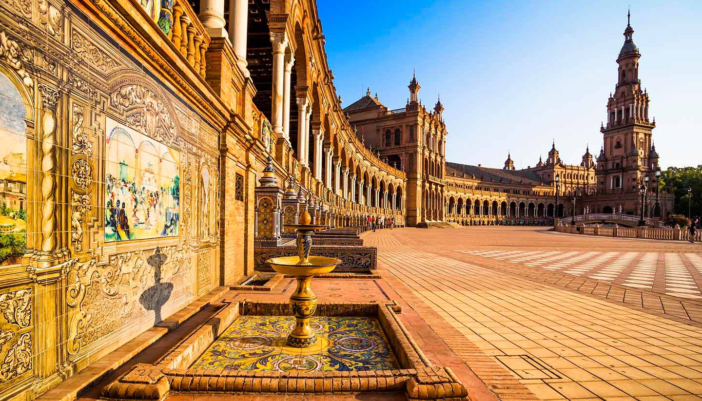 Spain - Seville Spanish Square, Spain