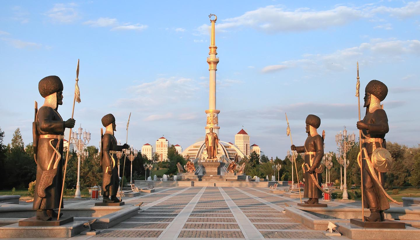 Turkmenistan - Monument Arch of Independence, Turkmenistan