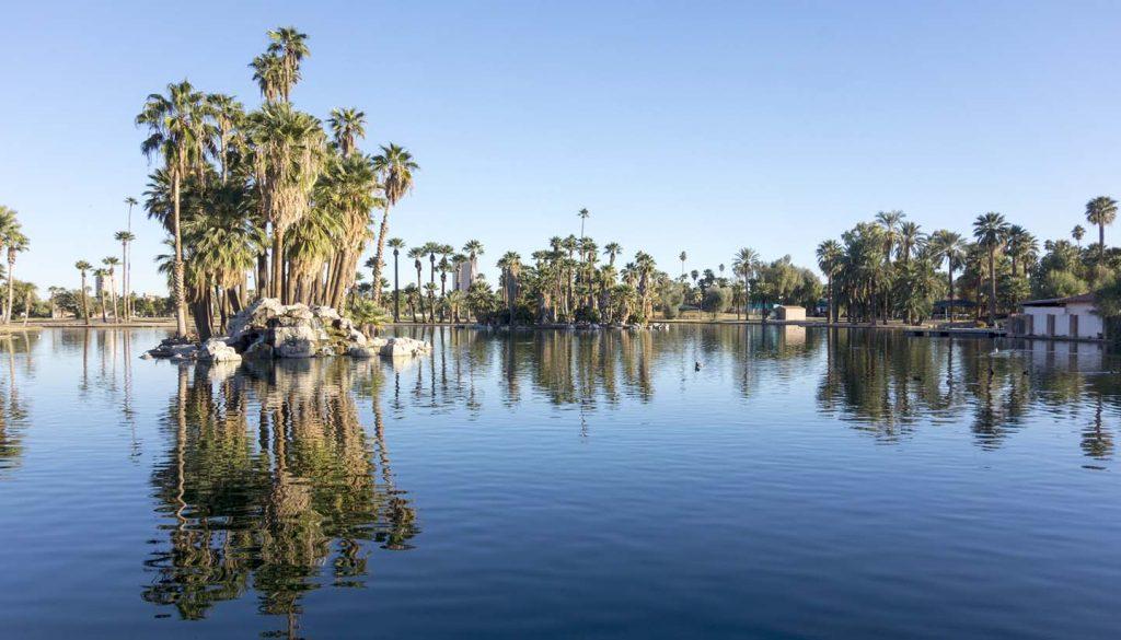 Phoenix - Encanto Park Lake, Phoenix, Arizona, USA