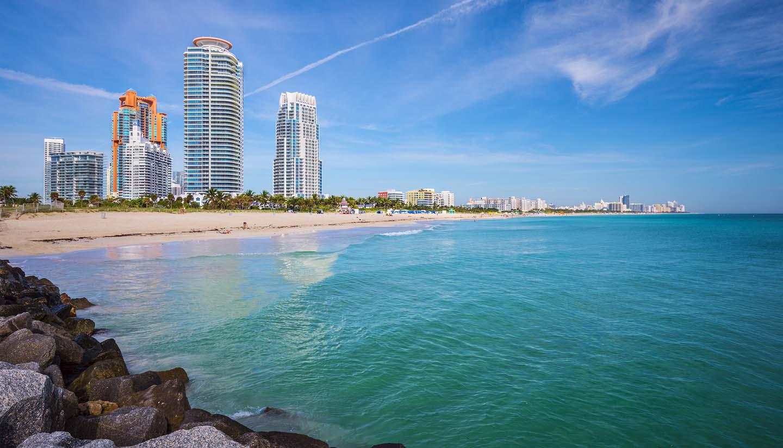 Miami - Miami Beach Skyline, Florida, USA