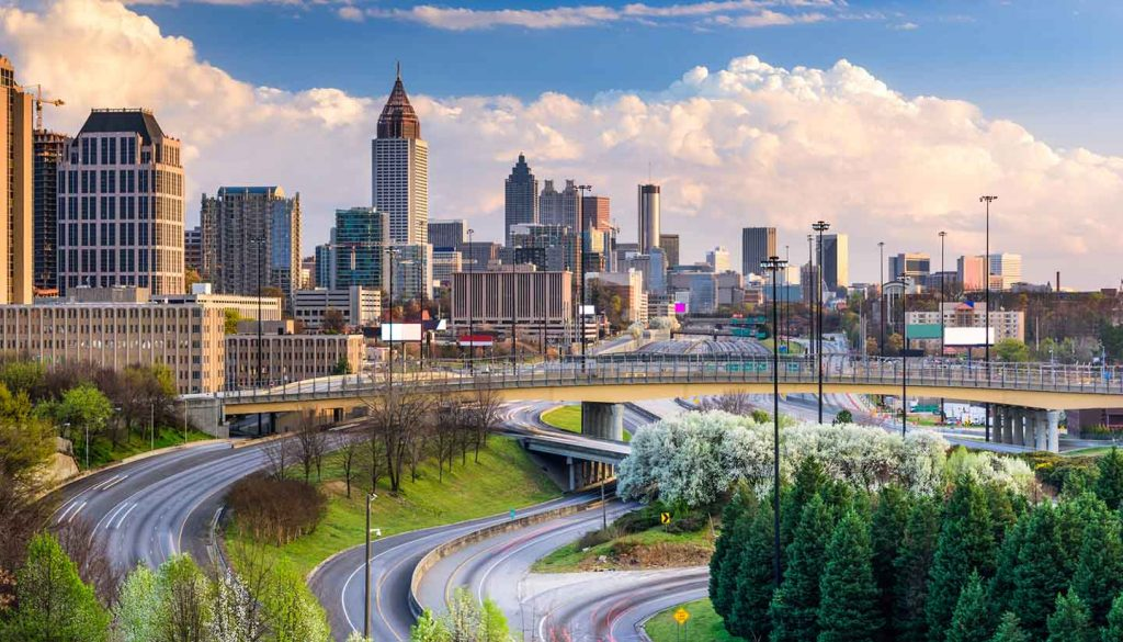 Georgia (USA) - Atlanta Georgia Skyline, USA