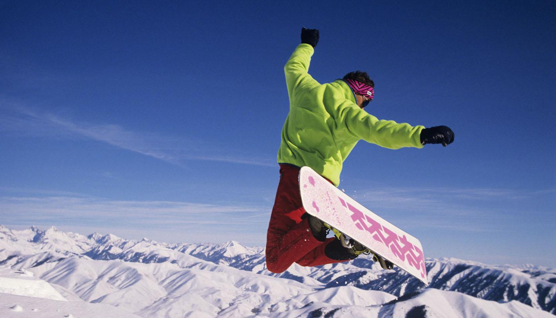 Idaho - Snowboarder, Sun Valley, Idaho, USA