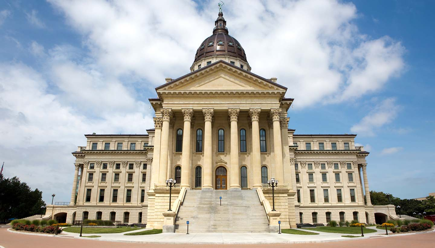 Kansas - State Capitol Building Kansas, USA.