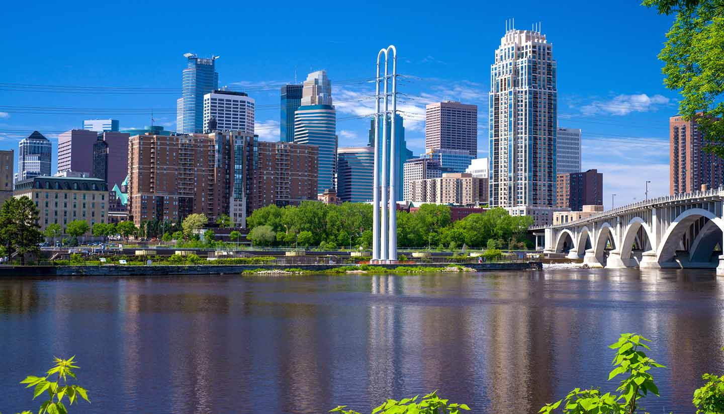 Minneapolis-St Paul - Minneapolis Skyline, USA