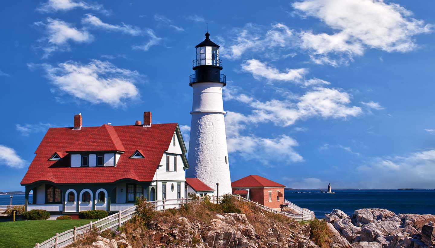 Maine - Portland Head Lighthouse at Cape Elizabeth, Maine (USA)