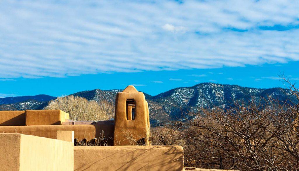 Santa Fe - Snowy Hills of Santa Fe, New Mexico, USA
