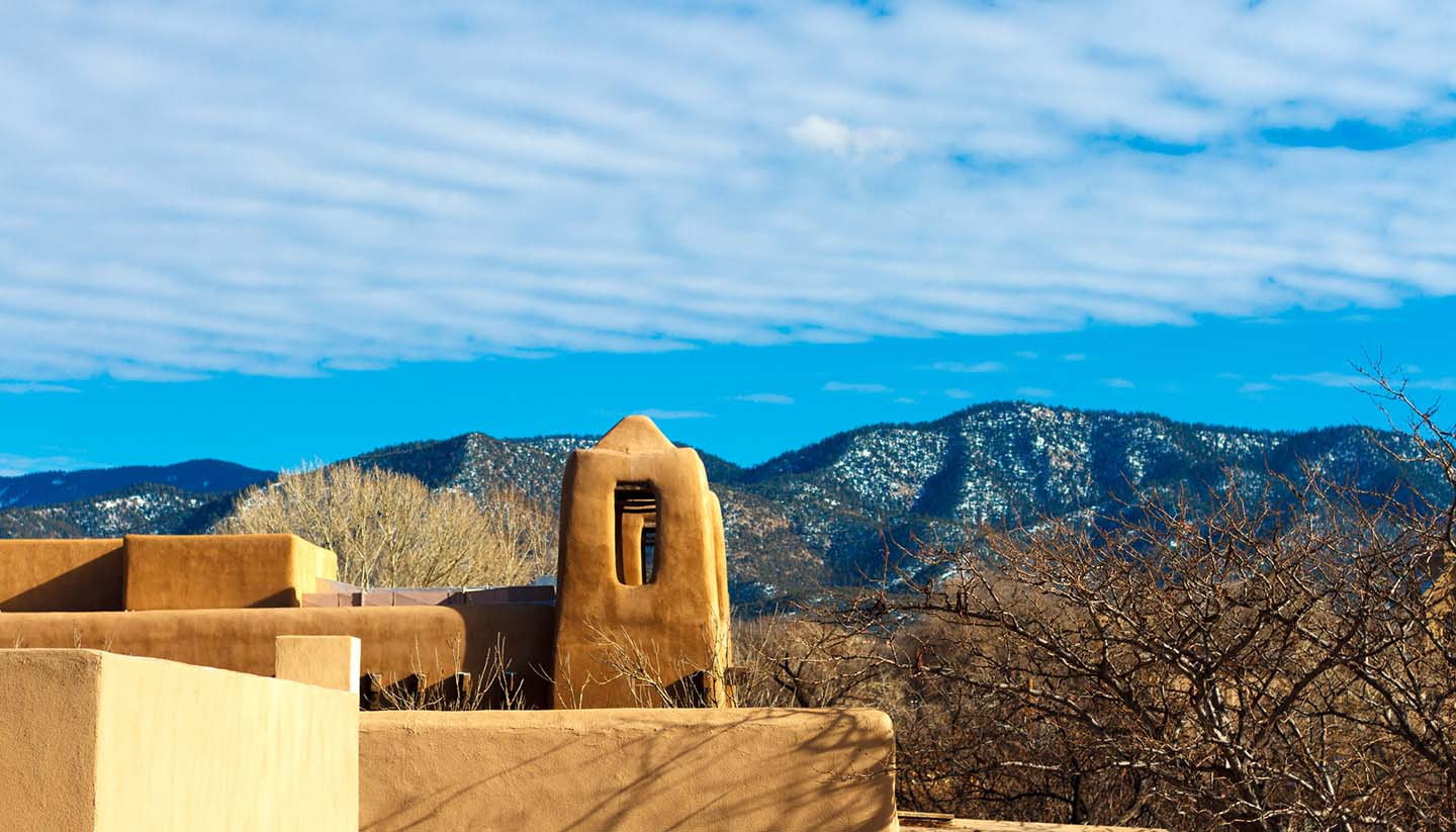 Santa Fe - Snowy Hills of Santa Fe, New Mexico, USA