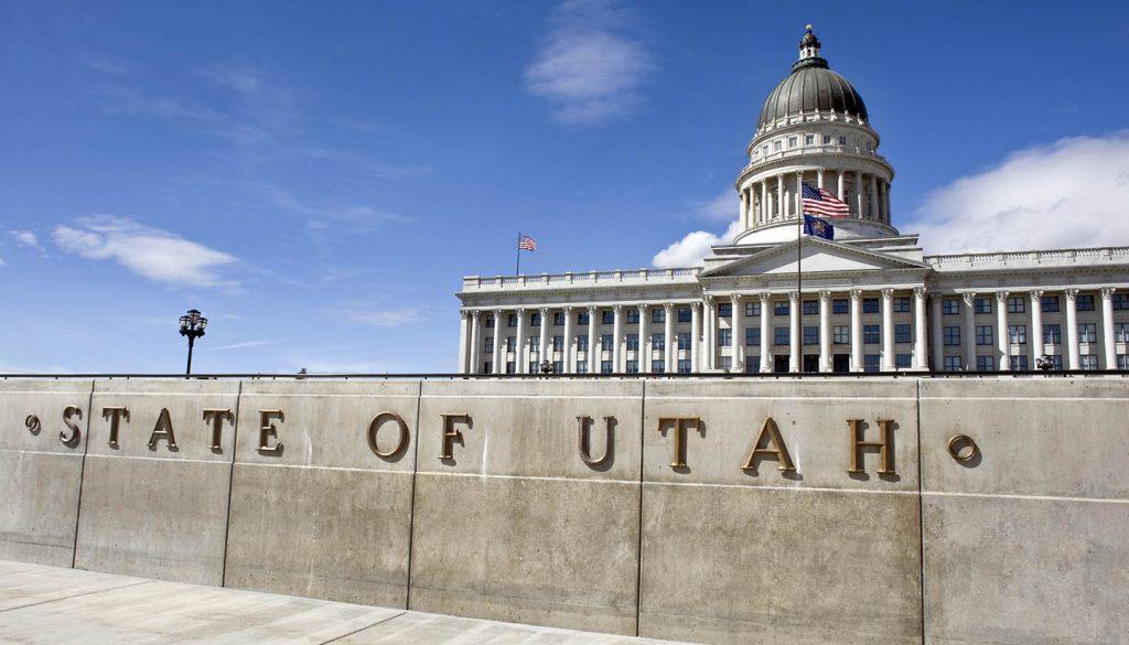 Utah - State Capital in Salt Lake City, Utah, USA.