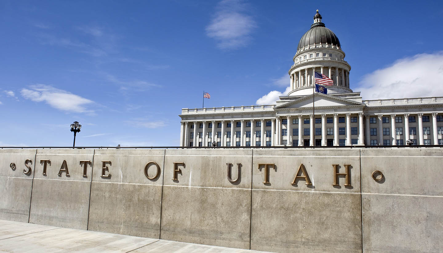 Utah - State Capital in Salt Lake City, Utah, USA.