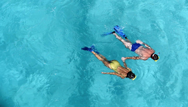 US Virgin Islands - Couple Snorkeling, US Virgin Islands