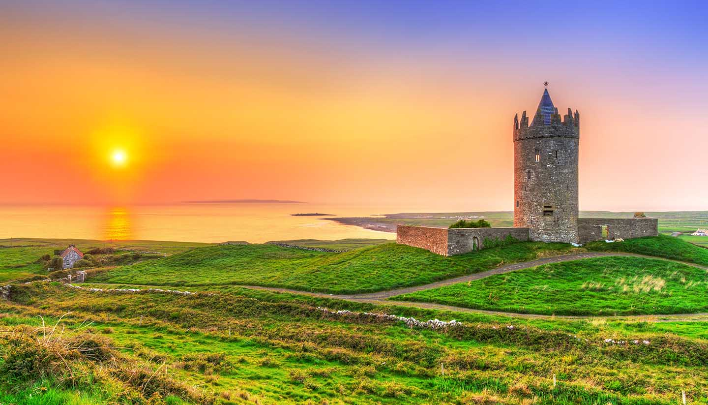Ireland - Doonagore Castle, Ireland