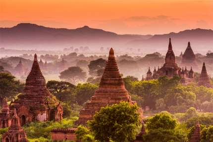Magnificent stupas in Bagan, Myanmar