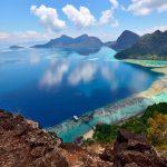 View from Boheydulang Island, Sabah, Borneo