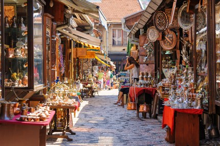 Shops selling souvenirs in the Old Town