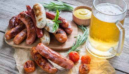 Bratwurst and beer