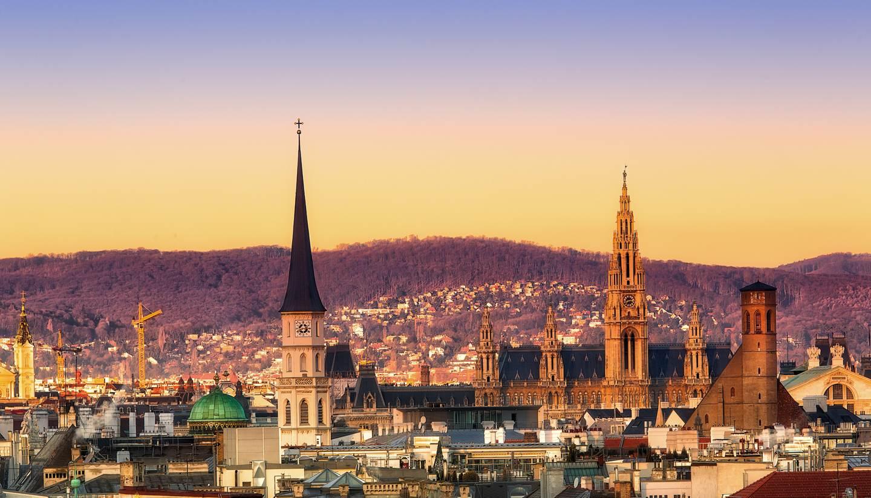 City Highlight: Vienna - Sunset over Vienna