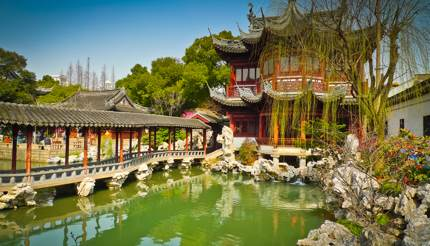 Traditional pavilions in Yuyuan Gardens