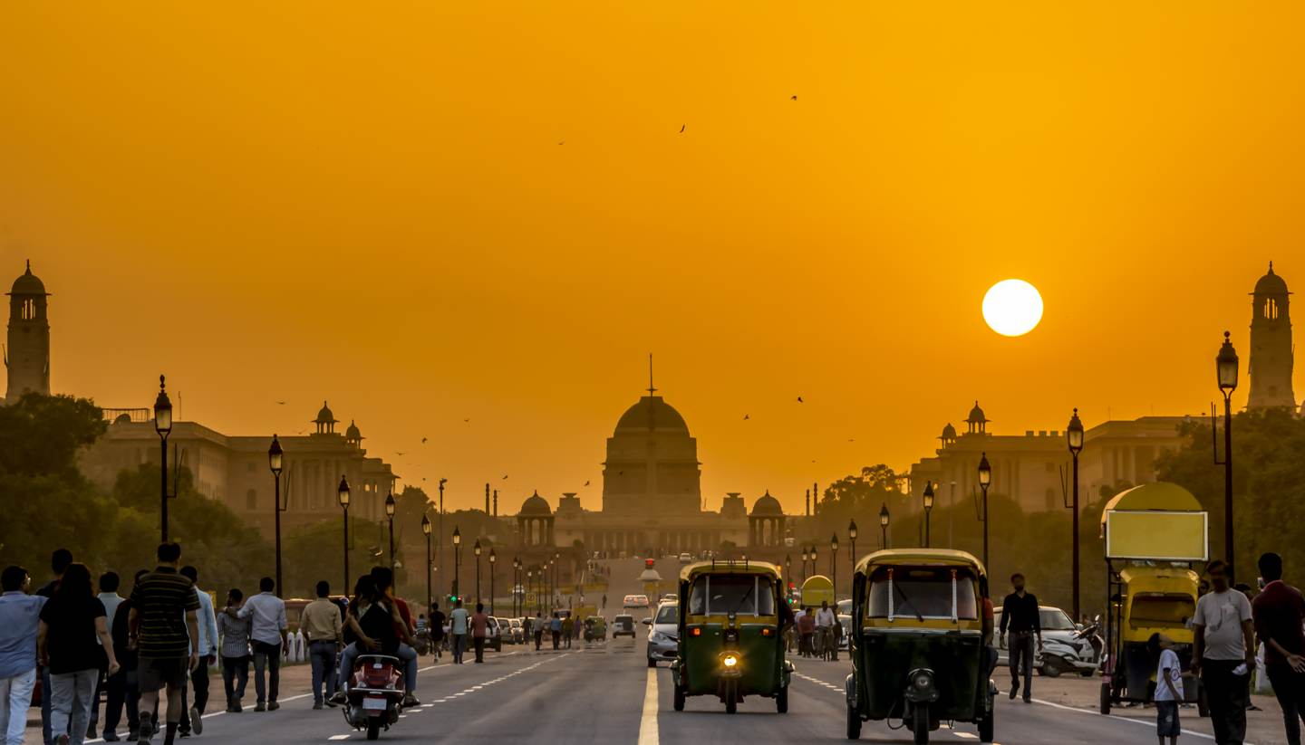City Highlight: New Delhi - Sunset behind the President Residence, New Delhi