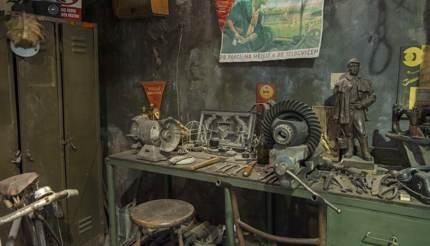 Factory scene in the Museum of communism
