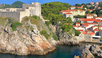 Lovrijenac fort protects harbour, Dubrovnik