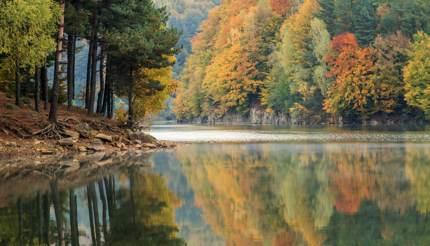 Lake Firiza in Maramures, Romania
