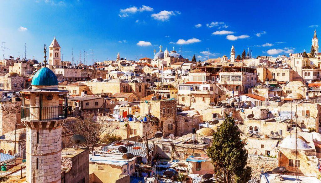 Jerusalem - Roofs of the Old City in Jerusalem