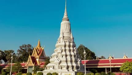 Silver pagoda and Royal Palace
