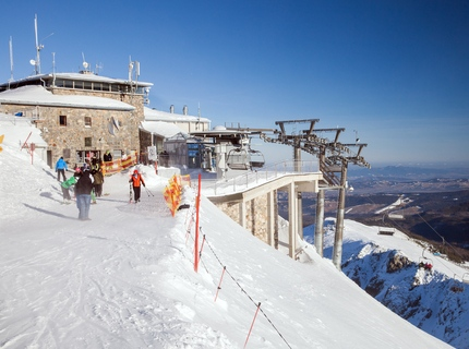 The cable car station in Kasprowy Wierch