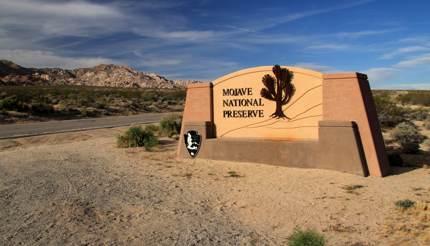 Mojave National Park entrance