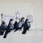 Controversial Banksy art work at Clacton-on-sea